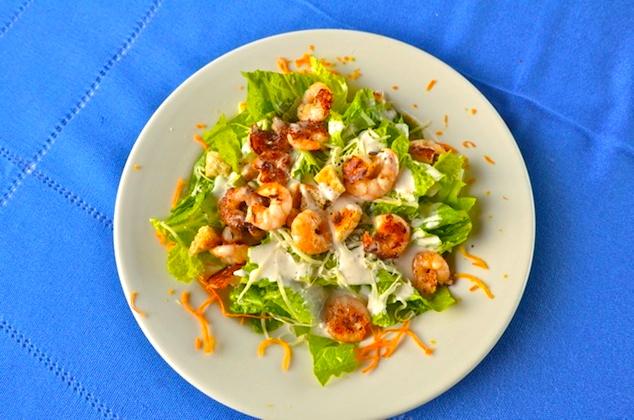Baja Mar shrimp salad plate