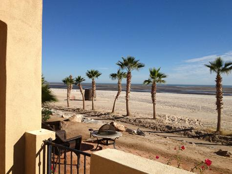 Beach view from El Dorado Ranch Condo 722