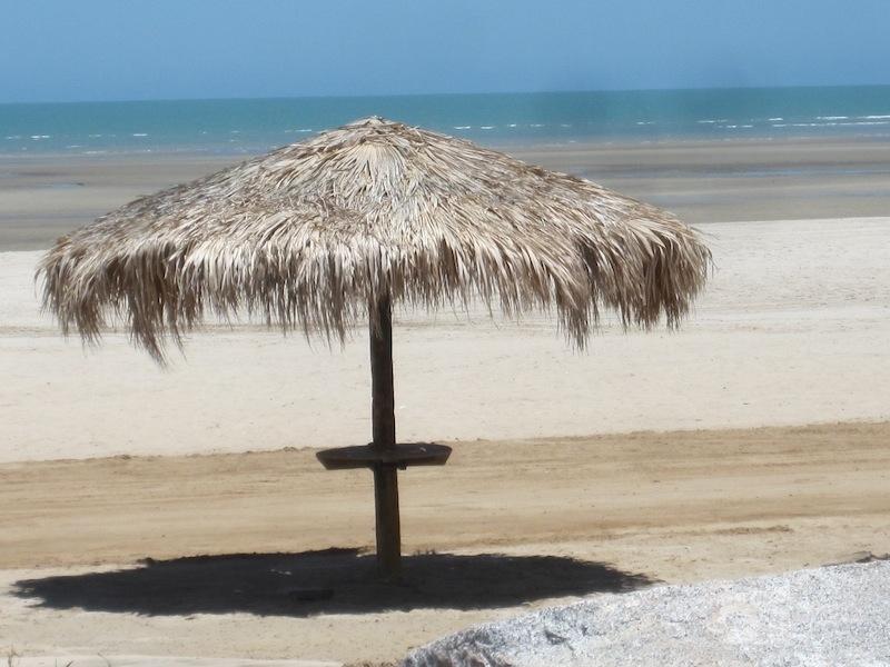 Umbrella hut at El Dorado Ranch private beach