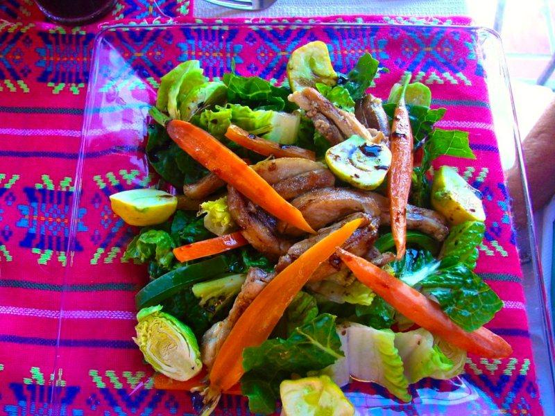 Salad at El Balcon Cocina Artesanal restaurant