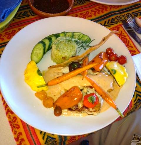 Chipotle chicken at El Balcon Cocina Artesanal restaurant