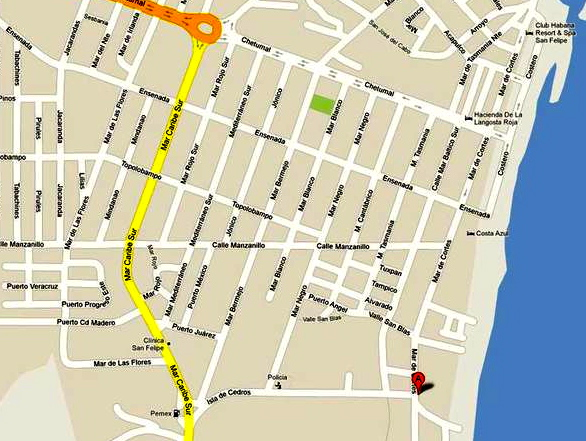 Directions to El Cortez San Felipe Restaurant