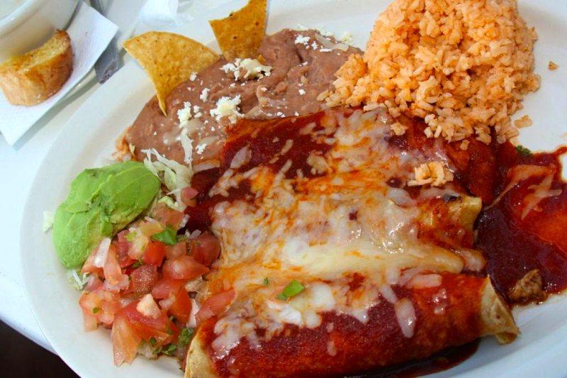 Mexican combination dish at El Cortez San Felipe Restaurant