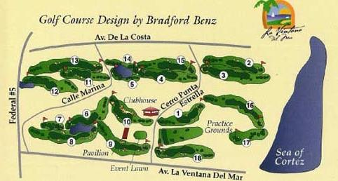 map of San Felipe Mexico 18 hole golf course
