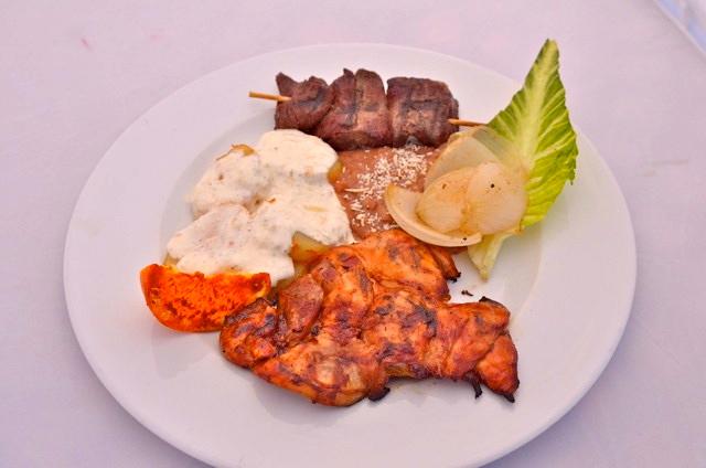 Juanitos Cantina kebab plate