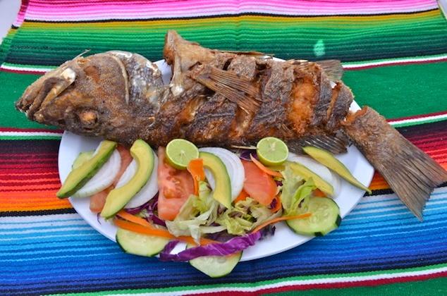 Mariscos La Morena grilled fish plate
