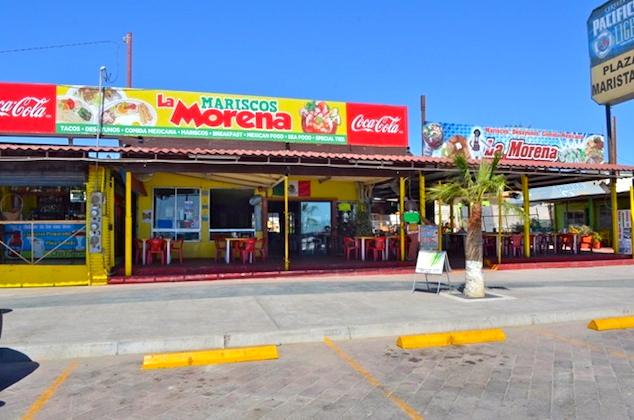 Mariscos La Morena restaurant front veiw