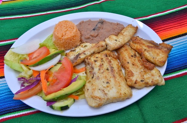 Grilled fish at Mariscos La Morena San Felipe