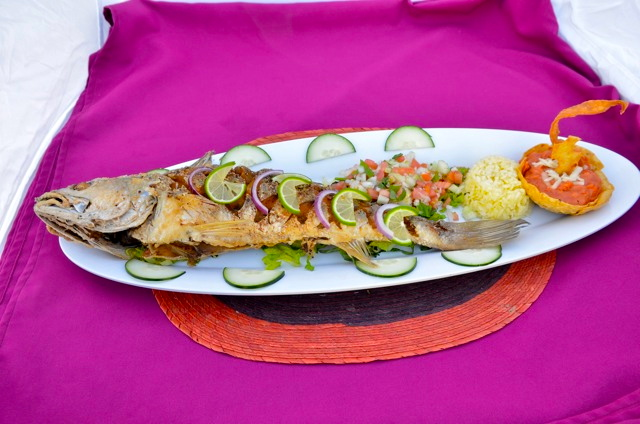 La Vaquita restaurant fish plate