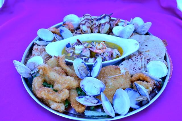 Gourmet seafood at La Vaquita