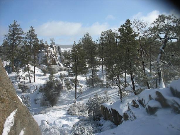 Snow at Laguna Hansen
