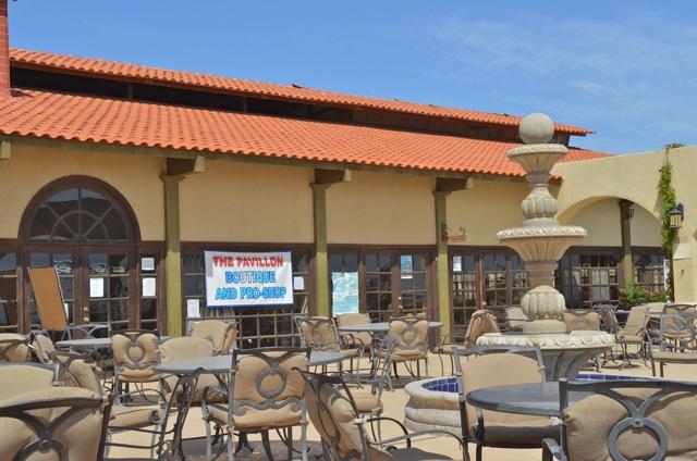Outdoor seating at The Pavilion El Dorado Ranch San Felipe