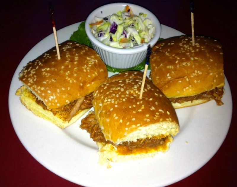 Parrots Cracker Beach Bar and Grill specialty - Pulled Pork Sliders
