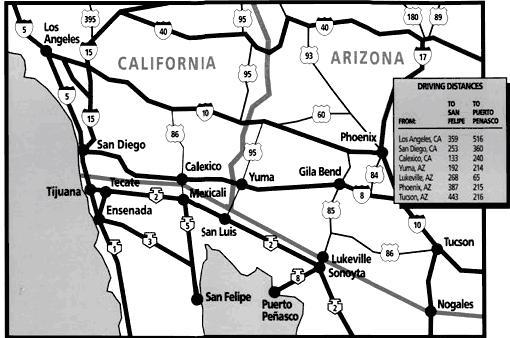 SanFelipe Freeway Map