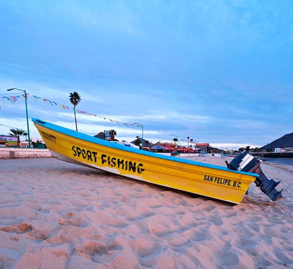 San Felipe Mexico panga fishing boat