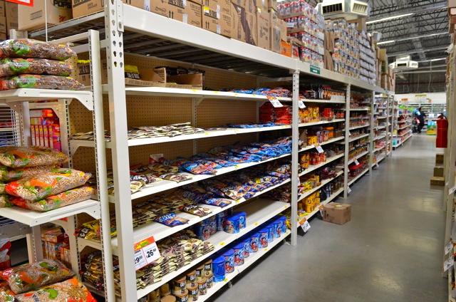 Bodega Aurrera San Felipe Superstore shelves