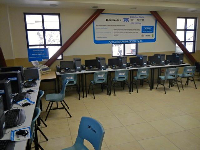 computer room at Centro Cultural San Felipe