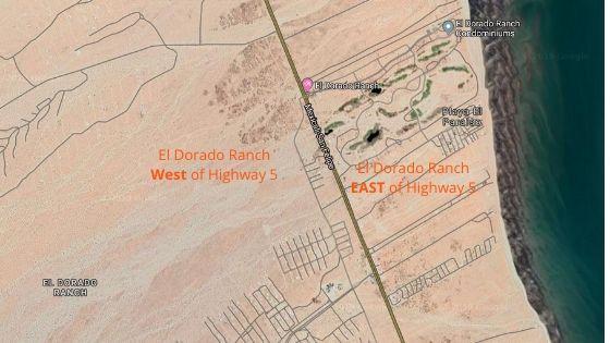 El Dorado Ranch San Felipe Baja Mexico split by Highway 5