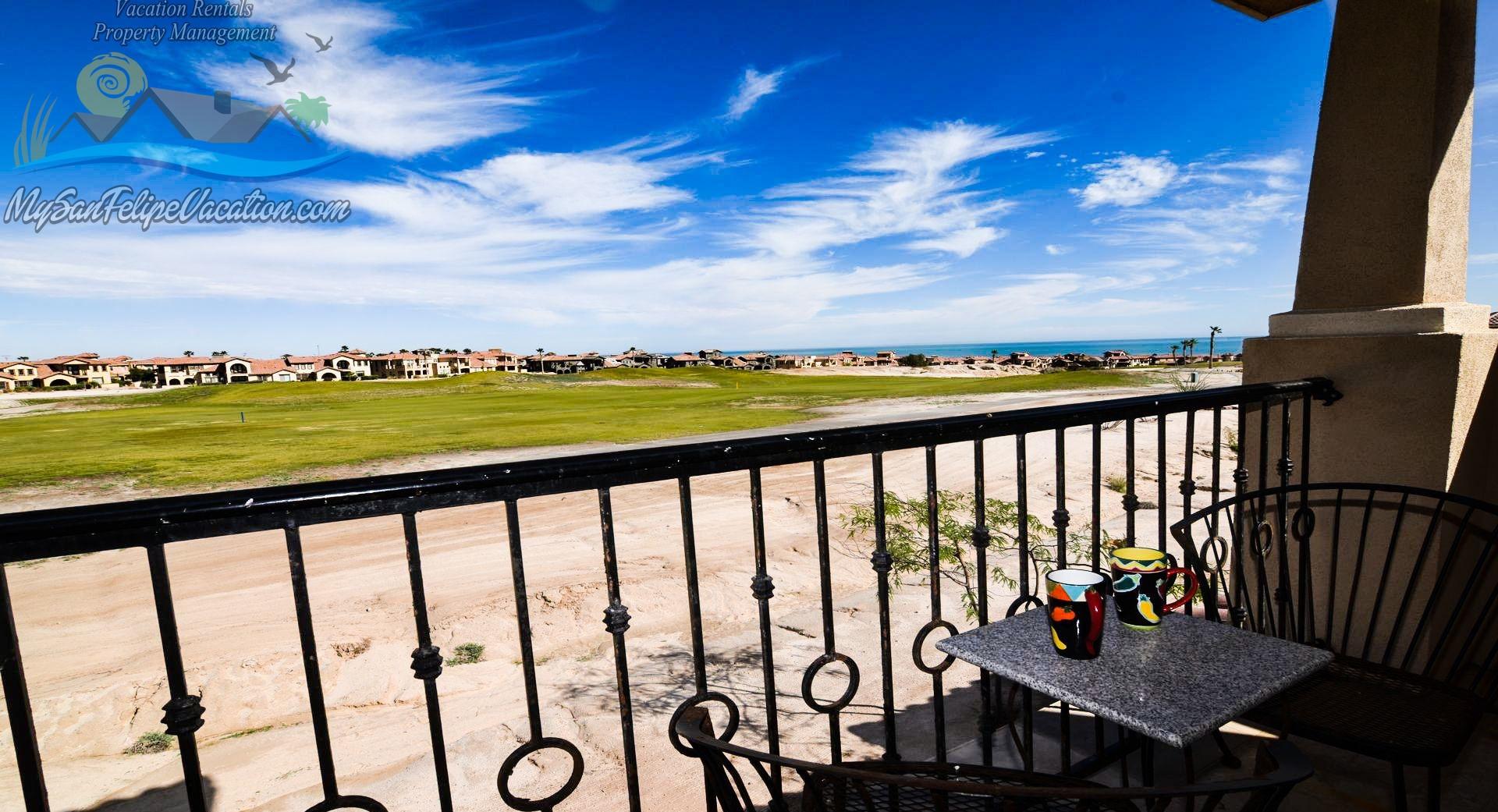 La Ventana del Mar San Felipe Baja Rental Condo 37-2 - Golf course view