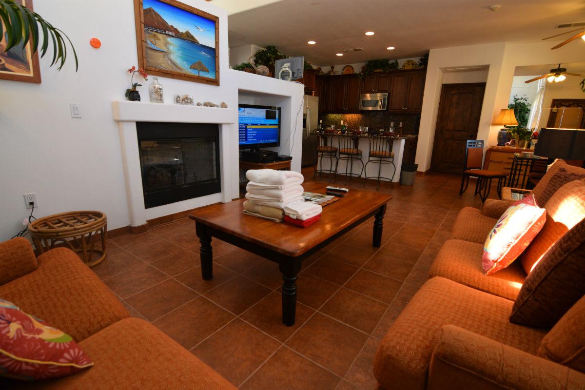 El Dorado Ranch San Felipe Baja condo 57-2 - Living room area