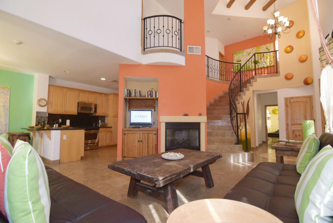 San felipe baja dorado ranch condo 234 living room tv fire place