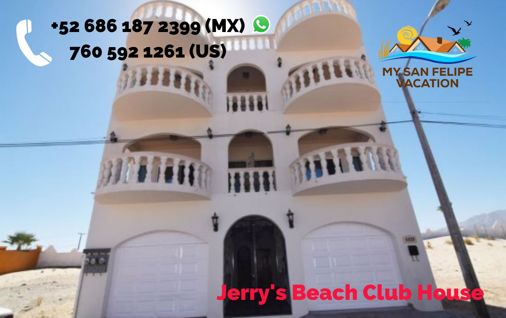 las palmas jerrys beach club condo 3 front entrance 2 door garage