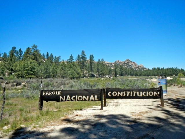 parque nacional constitution sign