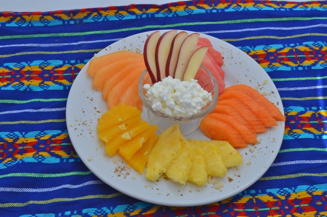 Fruit plate at The Pavilion