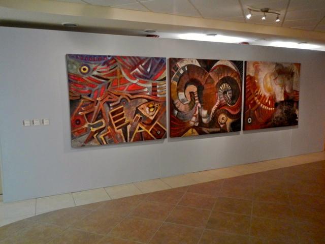 San Felipe Cultural Center - Art Exhibit on wall