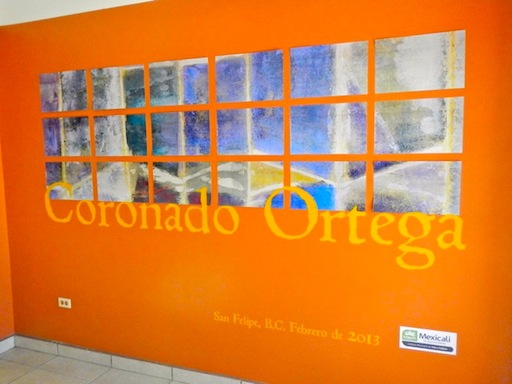 San Felipe Cultural Center art on wall