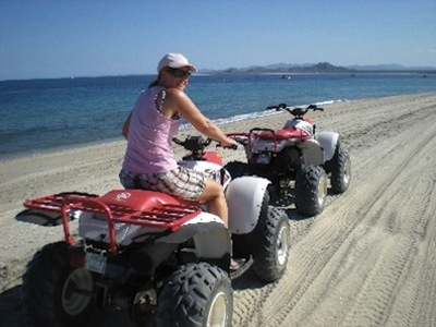 Riding ATV in San Felipe Baja