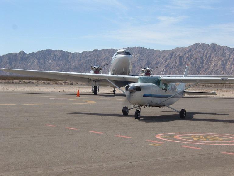 san felipe b.c. mexico planes on tarmac