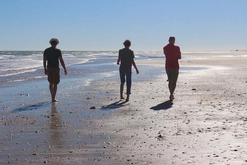 Romantic walks along the beach in San Felipe