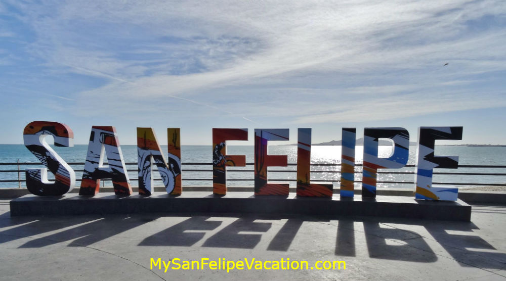 San Felipe tourist attraction sign by the Malecon