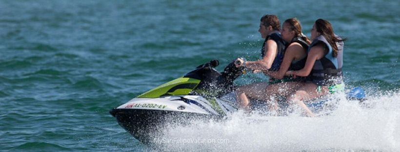Jet ski fun in San Felipe, Baja California
