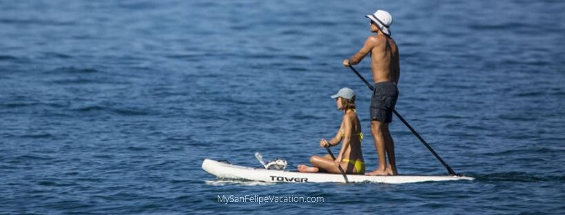 Stand up paddle boarding in San Felipe Mexico