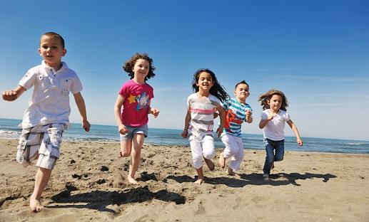 Kids beach race San Felipe