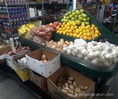 Gonzalez Supermarket San Felipe Baja California - fresh vegetables