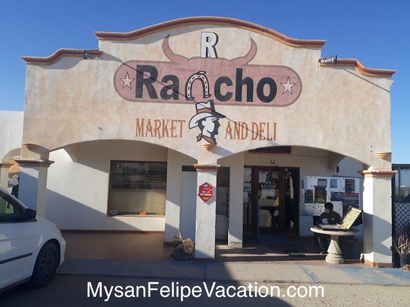 Rancho Market and Deli San Felipe Front View