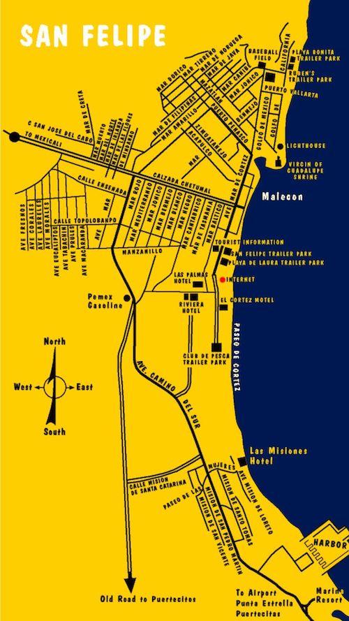 Map of San Felipe, Mexico