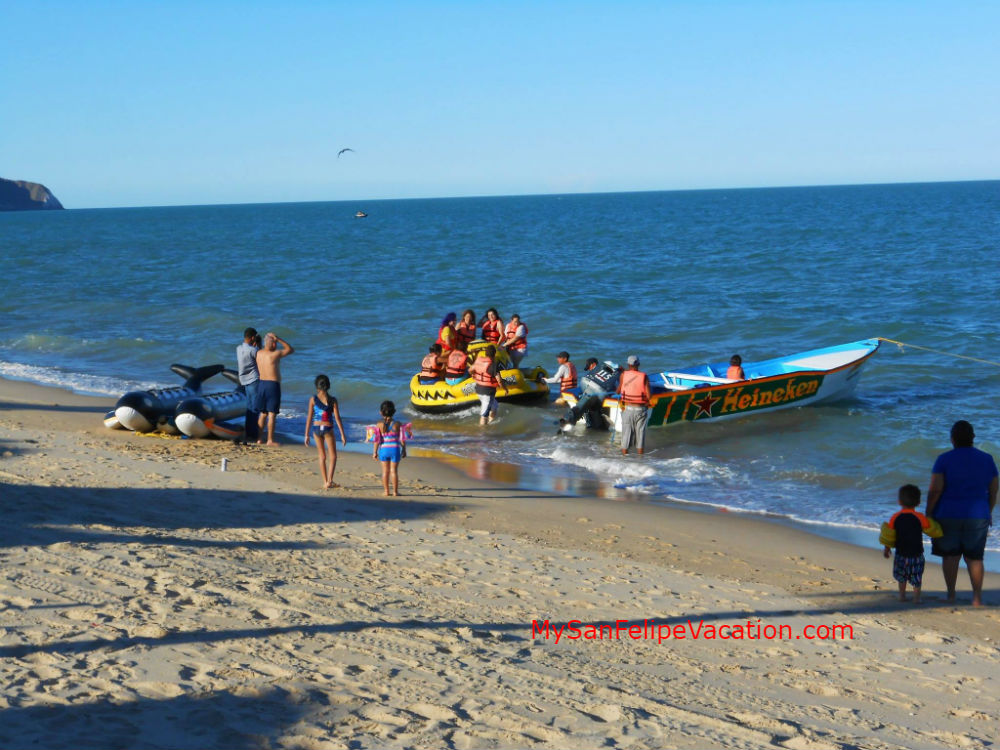 Enjoy your San Felipe vacation riding inflatables