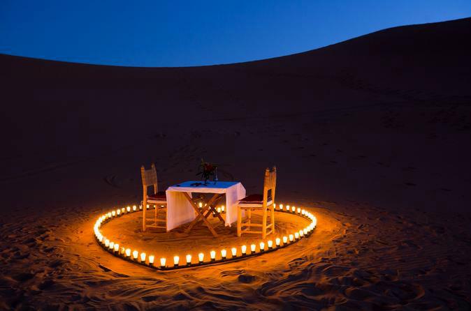 Romantic desert dinner San Felipe