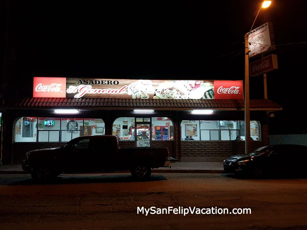 Asadero El General Restaurant San Felipe - Front View