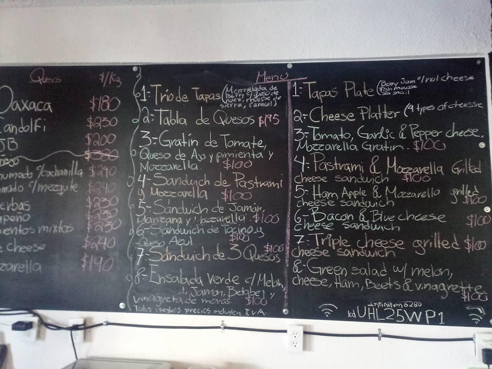 Menu at cg cava boutique restaurant  San Felipe