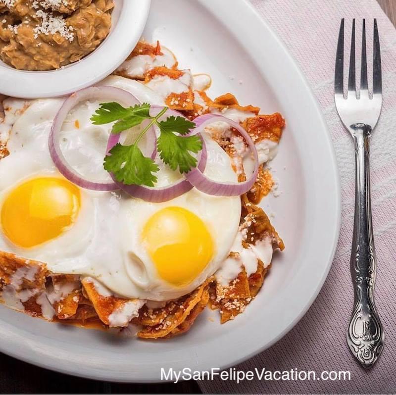 Breakfast plate at El Cortez Restaurant San Felipe, Baja, Mexico