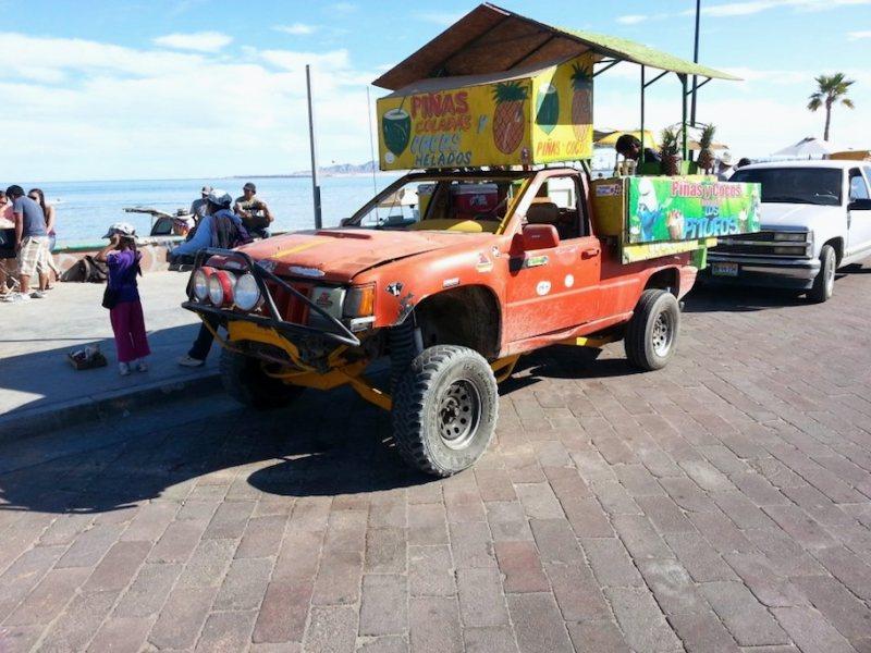 Pina Colada truck at the beach in San Felipe