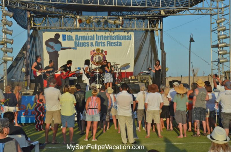 stage at the 2014 San Felipe blues and arts fiesta
