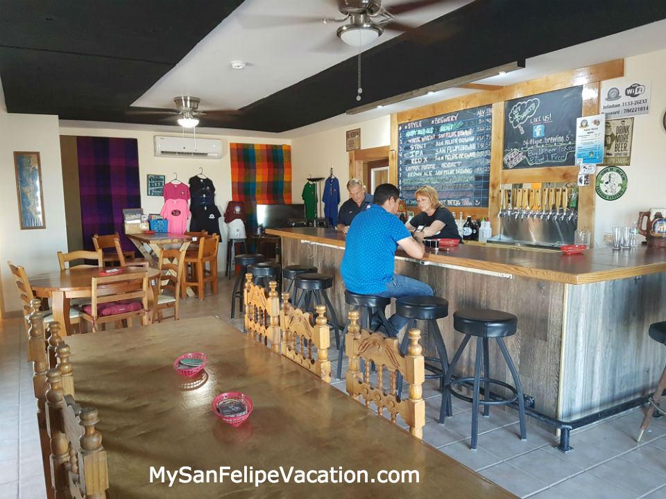 San Felipe Brewing craft beer interior