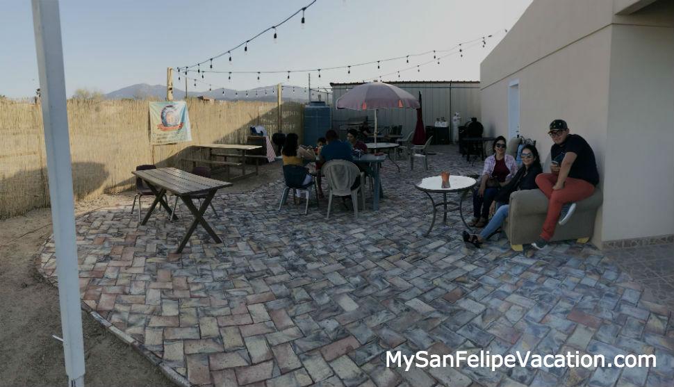 San Felipe Brewing outdoor patio