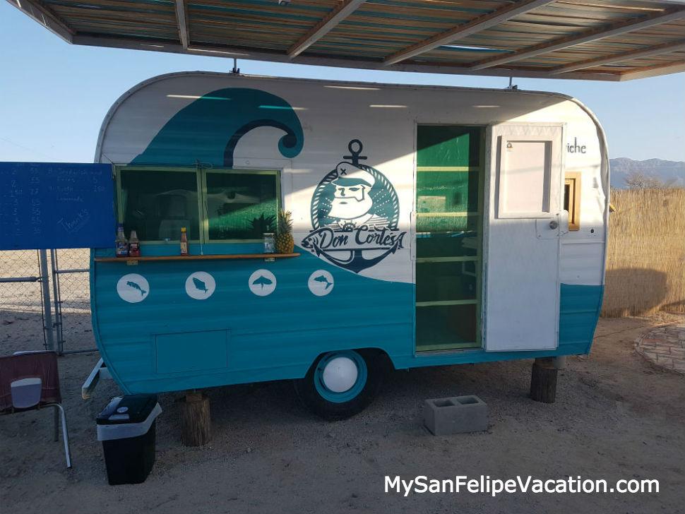 San Felipe Brewing taco stand